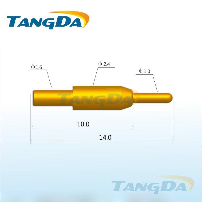 Tangda بوجو دبوس موصل DHL/EMS D2.4 * 14.0 مللي متر 1.5A كشتبان PCB التحقيق الطبية التحقيق أجزاء القالب