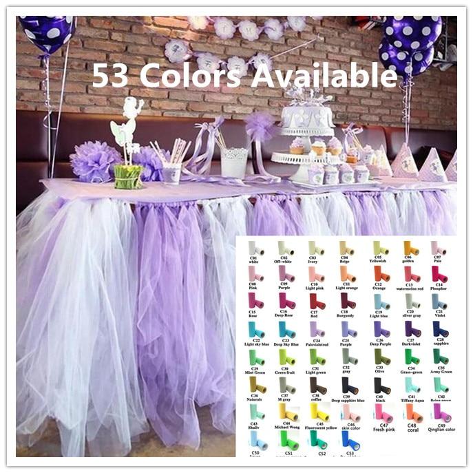 25Yard Tulle Roll Wedding Decoration Roll Fabric Spool Craft Tulle Fabric Tutu Dress DIY Organza Baby Shower Party Supplies