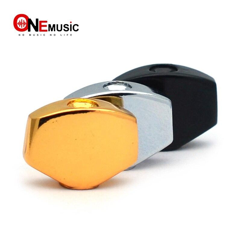 Afinador de guitarra en forma cuadrada y pequeña de Metal, afinadores de clavija, botones de repuesto de cabeza de máquina, perilla de mango, Punta dorada, negra y cromada