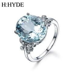 H hyde 2018 moda feminina clássico redondo borboleta grande cz cristal anel tamanho 6-10 presentes festa de casamento jóias anéis