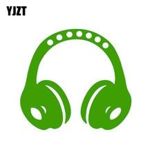 YJZT 14.5CM*13.3CM Accessories Window Headphone Silhouette Funny PVC Car Sticker Decal 6-2267