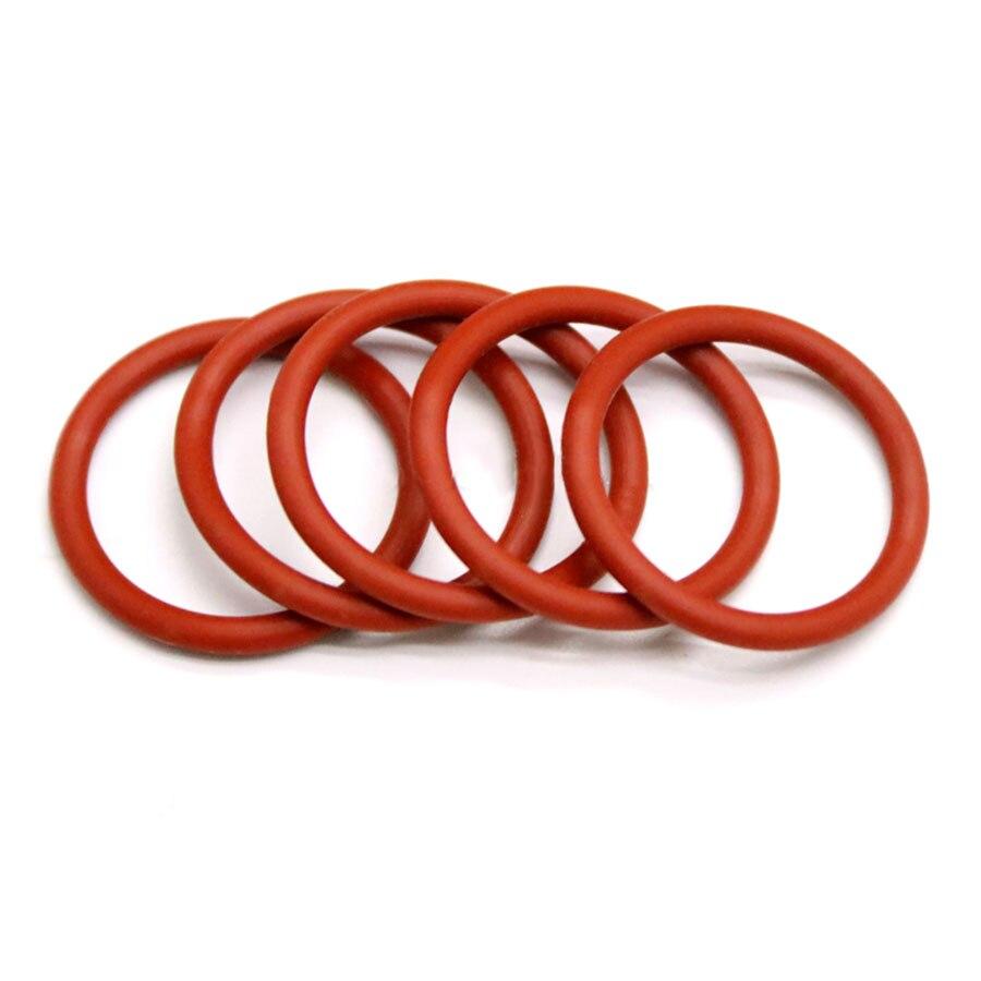 20/50Pcs M10-M70 Vermelho Silicone-Ring Vedações de Alta Temperatura de Vedação Anel de Vedação De Borracha De Silicone de Grau Alimentício silicone