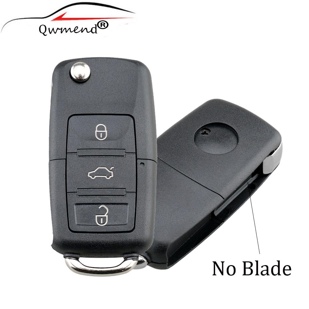3 Buttons NO Blade Flip Remote Key Case For SEAT Altea Alhambra Arosa Exeo Ibiza Leon Mii car Key Shell
