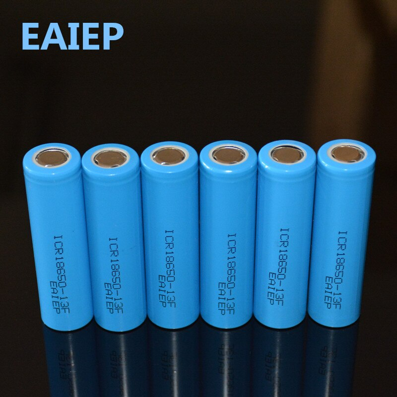 EAIEP 6 шт./лот 3,7 V 18650 литий-ионная аккумуляторная батарея 1300mAh для светодиодного фонарика игрушки камера Bateria