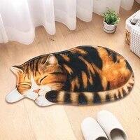 big 3d printed sleeping cat rugs doormats hallway doorway carpet living bedroom anti slip floor mats kitchen balcony tapete