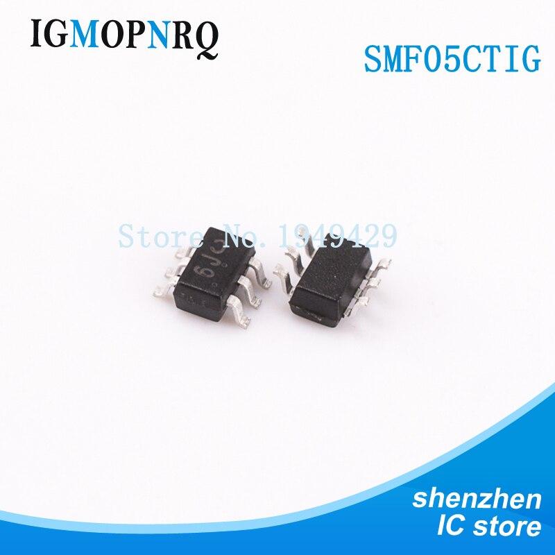 50 Uds SMF05CT1G SC70-6 SMF05 SMF05C SMD ESD SOT-23 supresor/diodo TVS 5 línea TVS arreglo nuevo original envío gratis