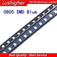 100 pièces bleu 0805 SMD LED couleur bleue Diodes lumière