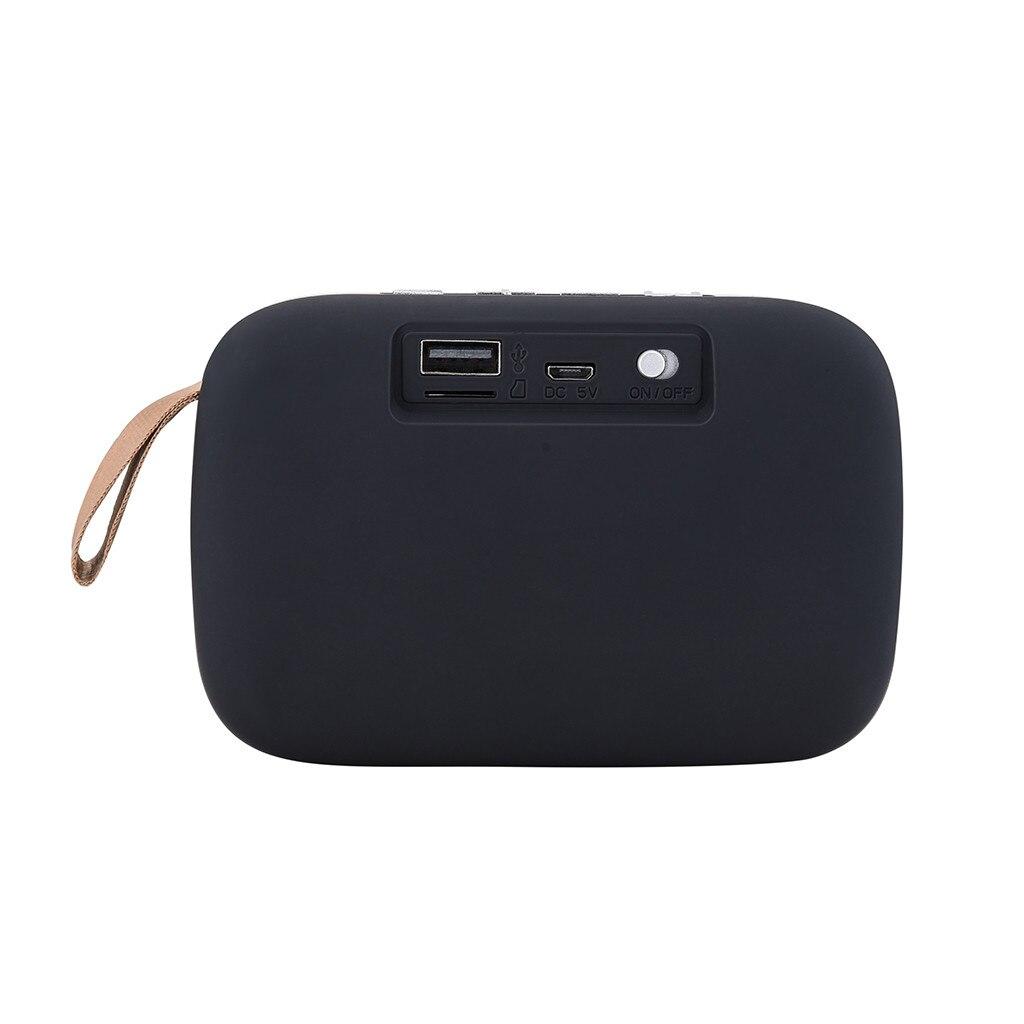 Nuevo altavoz portátil 1800HZ con Bluetooth, estéreo, tarjeta SD, FM, para Smartphone, Tablet, Lapt # T2