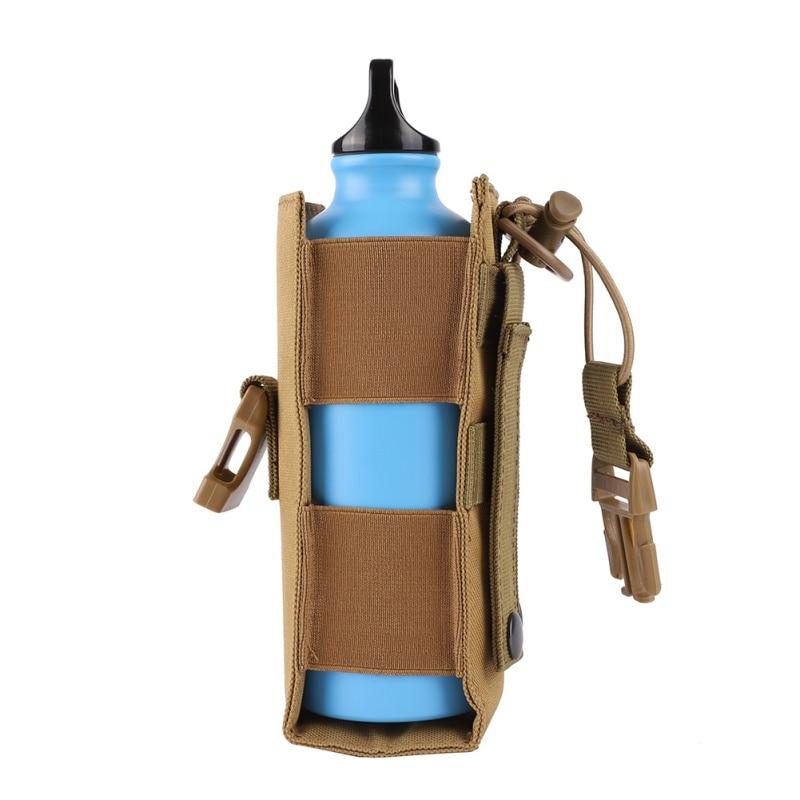 600D Nylon táctico Molle bolsa de botella de agua cubierta de la cantina militar funda de viaje al aire libre tetera bolsa de deporte 2018