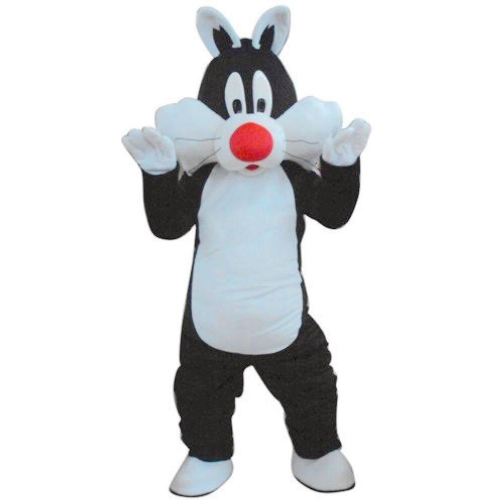 Disfraz de Mascota de gato Sylvester tamaño adulto disfraz de Mascota de gato Sylvester envío gratis