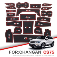 ZUNDUO Gate slot pad For Changan CS75 2013-2019 Door Groove Mat Automotive Interior Non-slip Mats Dust Mats