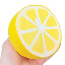 Squishy Jumbo citron lente augmentation Simulation fruits presser jouets doux pain gâteau parfumé soulagement du Stress drôle pour enfant cadeau 11*10CM