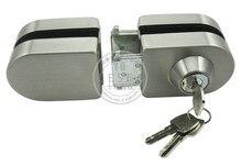 Serrure de porte en verre en acier inoxydable   De haute qualité meilleure vente 304 avec clés, ---- prix usine Direct