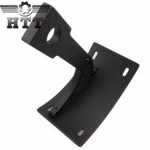 Pièces de rechange livraison gratuite moto pièces support incurvé plaque dimmatriculation support détiquette pour Yamaha guerrier v-max noir