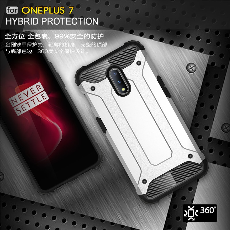For Oneplus 7 Case Shockproof Armor Rubber Heavy Duty Hard PC Shell Phone Case For Oneplus 7 Cover F