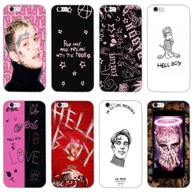 soft Transparent cover case Lil Peep hellboy Cry Baby For Samsung Galaxy A10 A30 A40 A50 A60 A70 A6s A8 Plus A9s star J8 2018