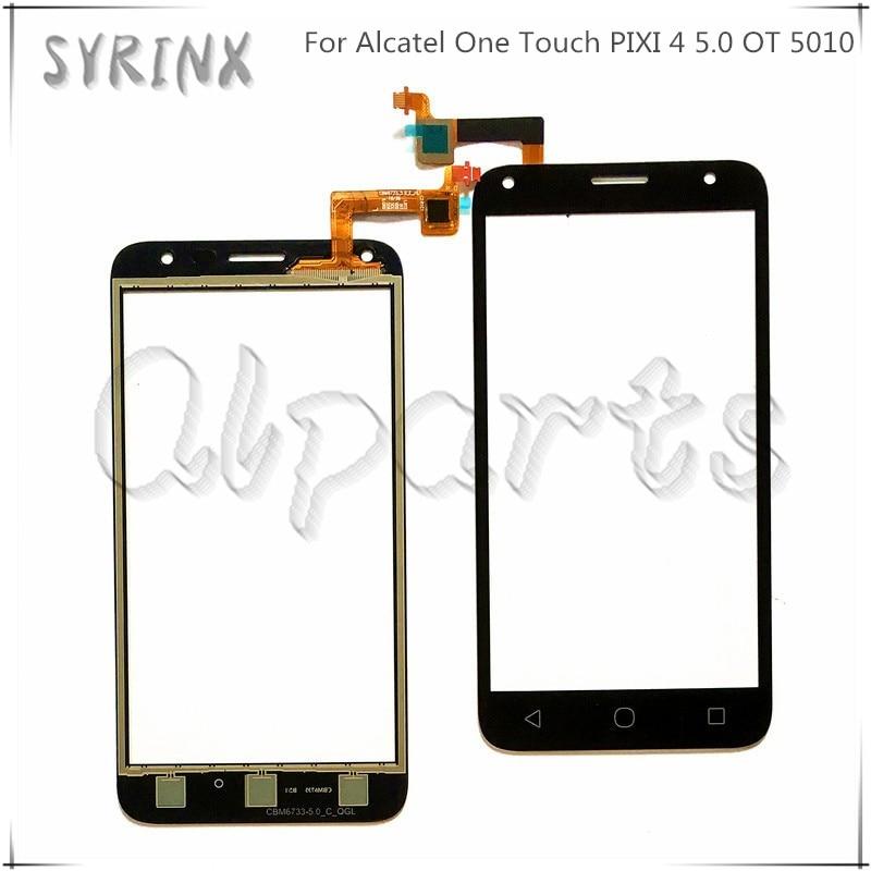 Seringas de vidro touchscreen para alcatel um toque pixi 4 5.0 ot 5010 ot5010 5010d 5010e 5010g OT-5010 toque digitador da tela sensor