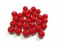 (Choisissez la taille dabord) 6mm/8mm/10mm/12mm/14mm/16mm/18mm/20mm rouge acrylique solide perles pour enfants fabrication de bijoux