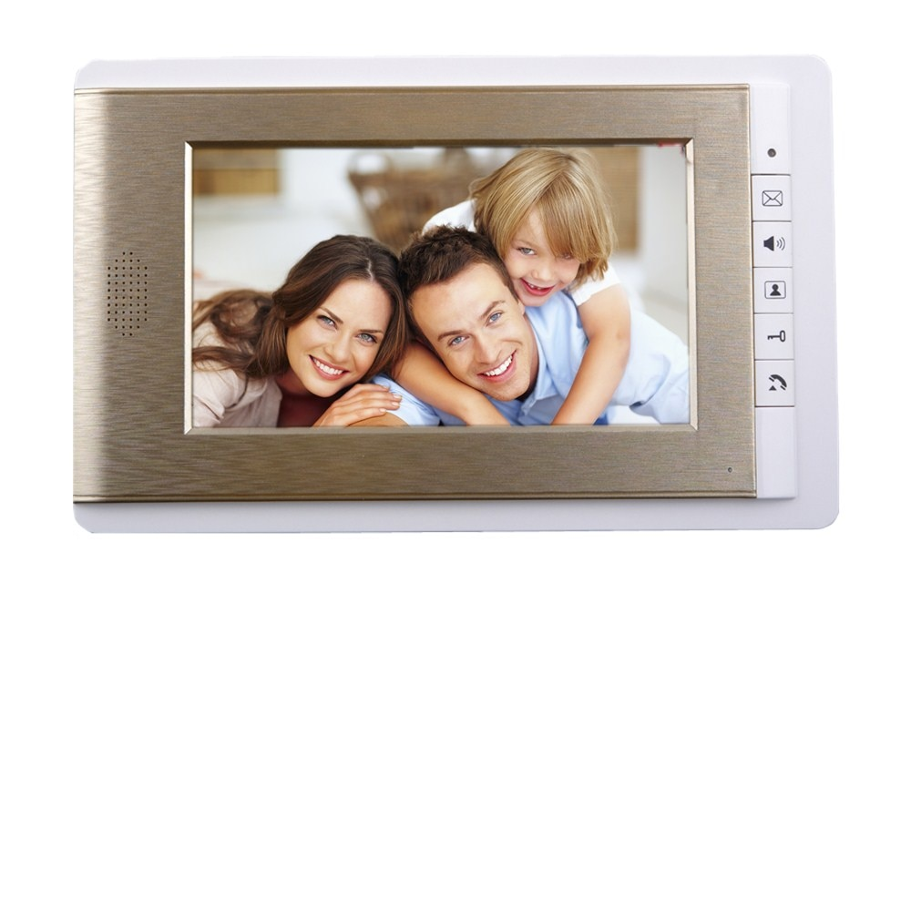 2017 7INCH Video door phone Intercom System TFT-LCD Color Screen two Monitor with one outdoor panel hd video DoorBell for villa enlarge