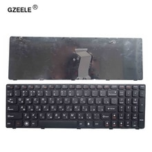 Клавиатура для ноутбука GZEELE, новая раскладка для lenovo G580 Z580A G585 Z585 G590 с рамкой RU, красная, черная, русская клавиатура