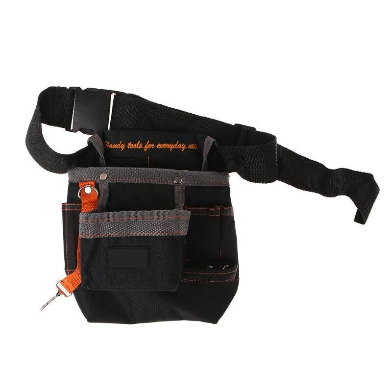 Bolsa de herramientas de 8 bolsillos con correa ajustable para mantenimiento de cinturón