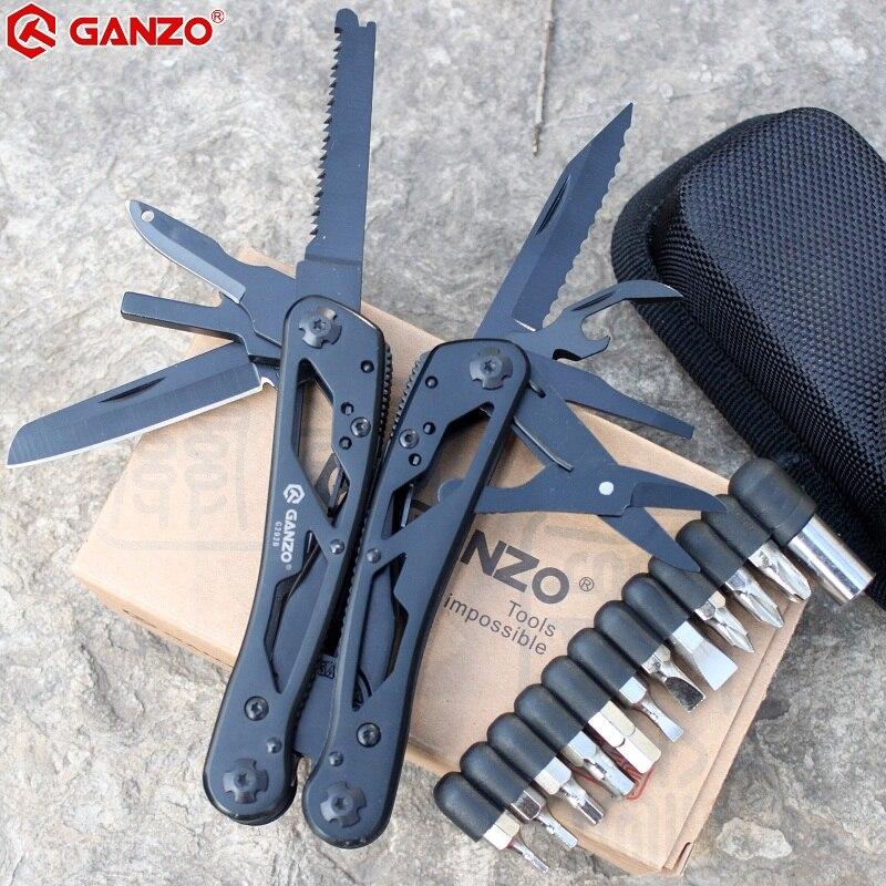 Универсальные инструменты G202B Ganzo, многофункциональный нож плоскогубцы складывающиеся инструменты для повседневного использования многофункциональные складывающиеся плоскогубцы отвертка биты мини-ножницы для похода