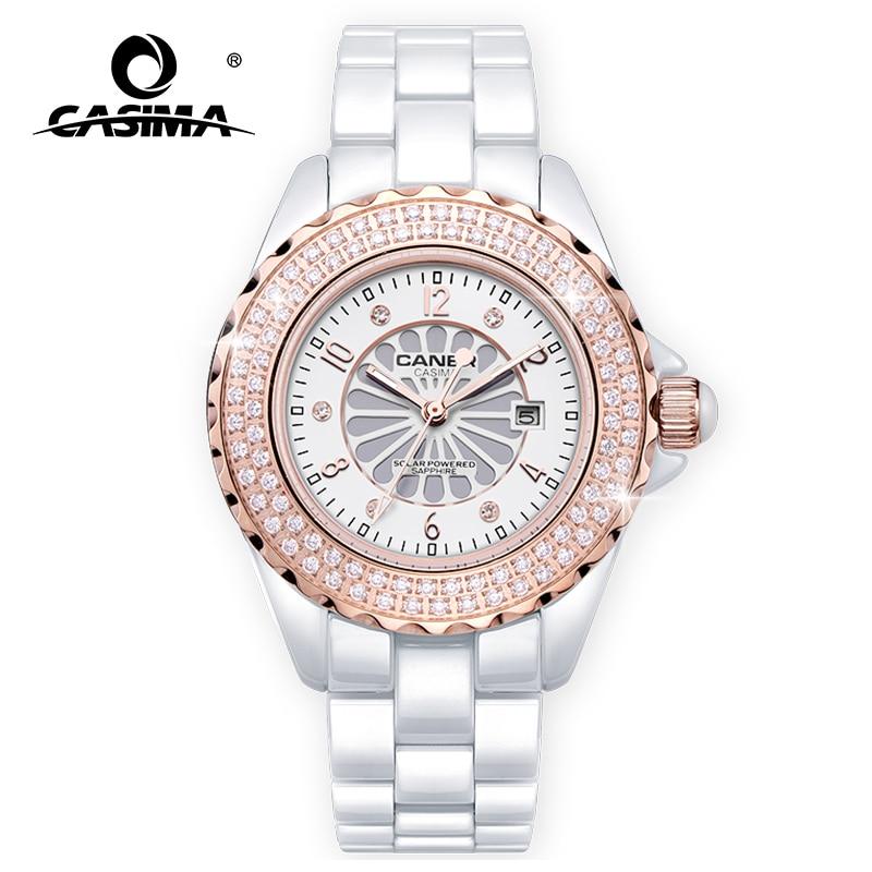 Nuevos relojes de marca de lujo a la moda para hombre, reloj deportivo clásico para hombre, reloj de cerámica a prueba de agua de 100m CASIMA #6907