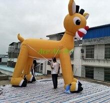 Statue de renne de noël gonflable géante   Décoration de noël gonflable, pour les vacances de noël