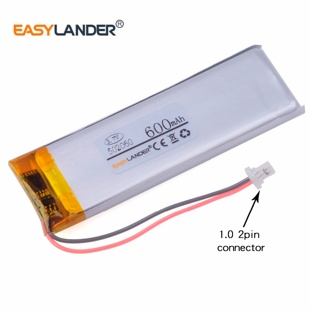482060 502060  3.7V 600mAh Li-polymer battery for GPS DVR mp3 mp4 bluetooth Hearing aid mobile Reading pen 502059 502058