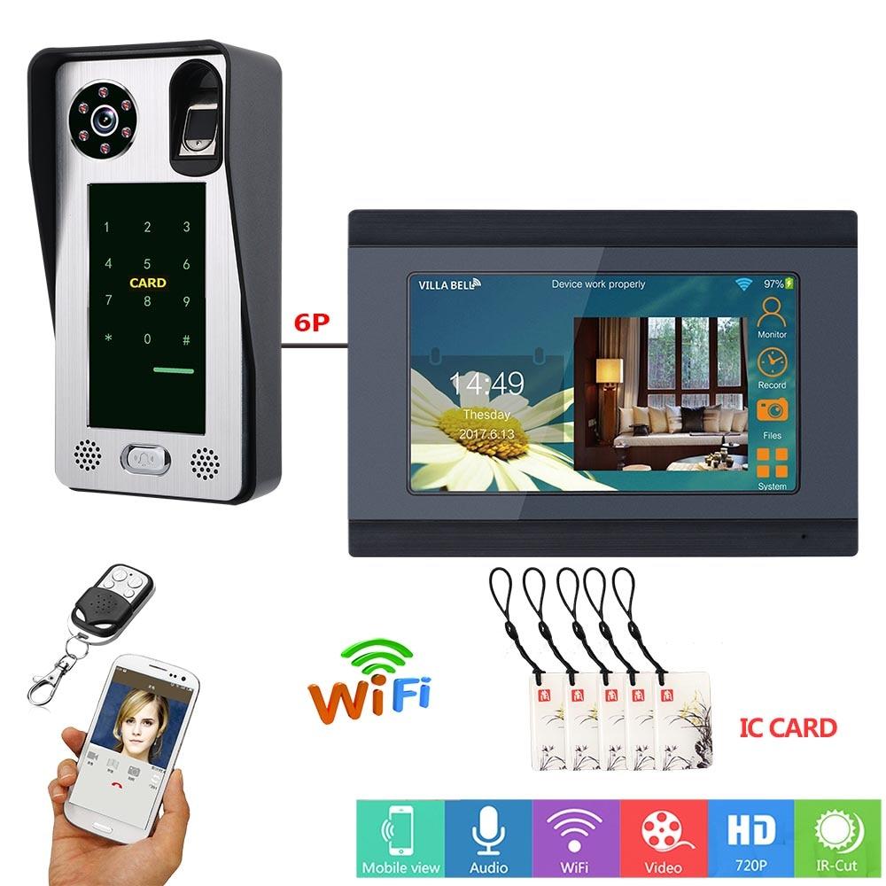 Alpinone-نظام اتصال داخلي سلكي wi-fi ، 7 بوصات ، بطاقة IC ، فيديو ، جرس باب ، تحكم في الوصول إلى الباب