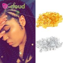 100pcs Gold metal tube ring dreadlock beads for braids hair beads for dreadlocks adjustable hair bra