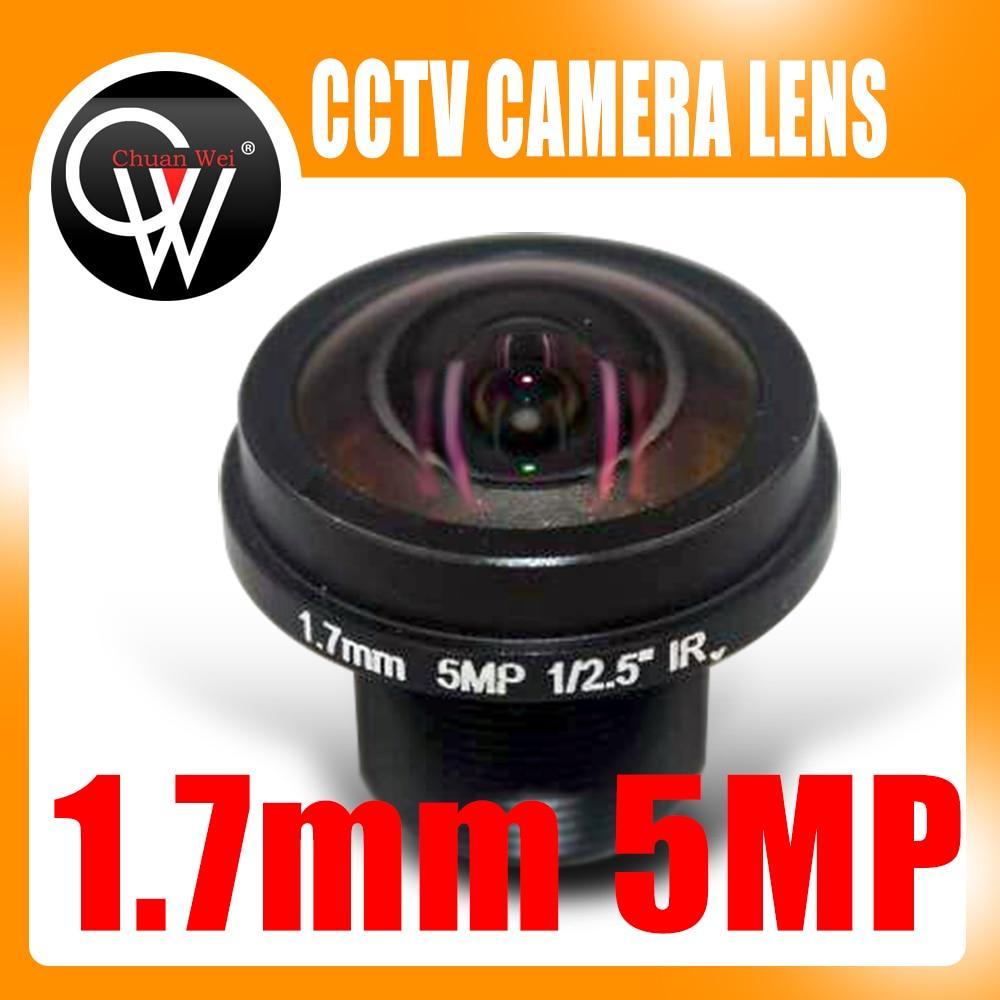 Neue 360 grad panorama fisheye weitwinkelobjektiv HD 5MP M12 kameraobjektiv 1,7mm panorama objektiv FPV kamera HD objektiv