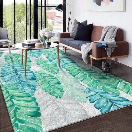 الشمال نمط يترك سلسلة مجردة الفن غرفة المعيشة أحجام مختلفة السجاد أريكة طاولة القهوة حصيرة ديكور المنزل