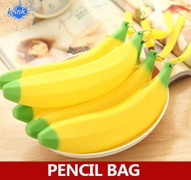 Creative banana pencil bag for kids , new funny personalized banana pencil bag as school & office supplies