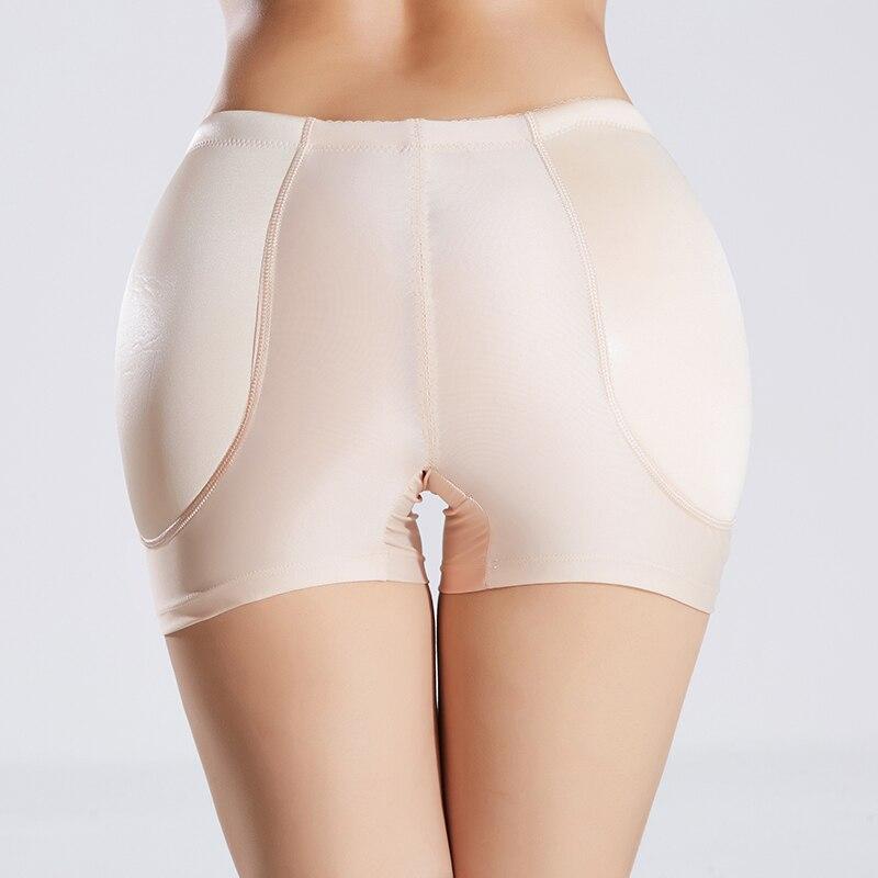 Plus size mulher esponja acolchoada calcinha sem costura inferior empurrar para cima cintura média bunda elevador shaper booty levantador briefs