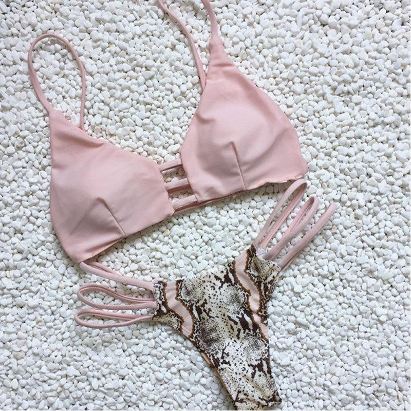 Conjunto de biquíni sensual vazado, roupa de praia feminina estilo push up com enchimentos, moda praia, 2020