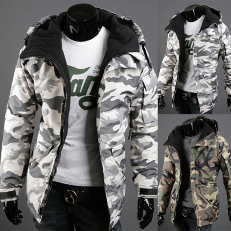 Bigsweety nueva moda camuflaje abrigos primavera otoño chaqueta Parkas ropa con capucha de algodón acolchado chaqueta ropa XXL