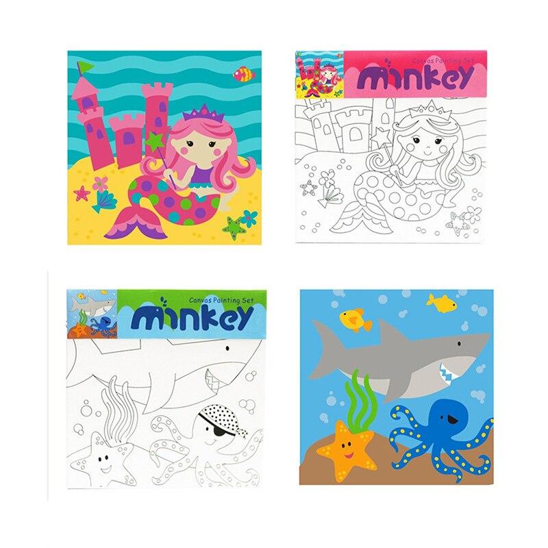 Juguetes de dibujo para niños, bolígrafo 3d, juguetes de pintura Montessori, juguetes para colorear, dinosaurio, Pony de sirena, juguete educativo marino speelgoed