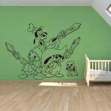 Stickers muraux créatifs T152   stickers muraux mignons et mignons de Mickey Mouse, pour chambres denfants, décoration de la maison