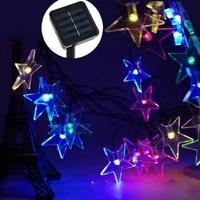 led solar lamplight fairy strip lamp 20led outdoor waterproof holiday weddingchristmas new year decor string solar led lamp