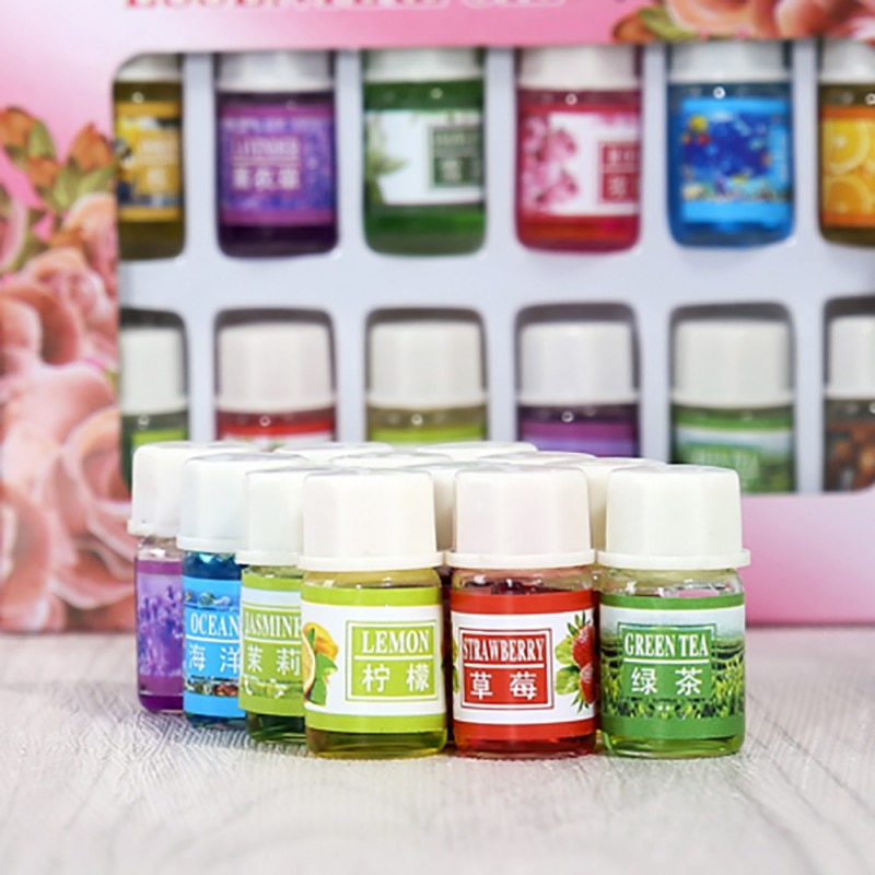 Humidificador difusor de aromas solubles en agua, 12 piezas de 3ml, aceites esenciales para masaje de Spa, cuidado de la piel, lavanda, incienso