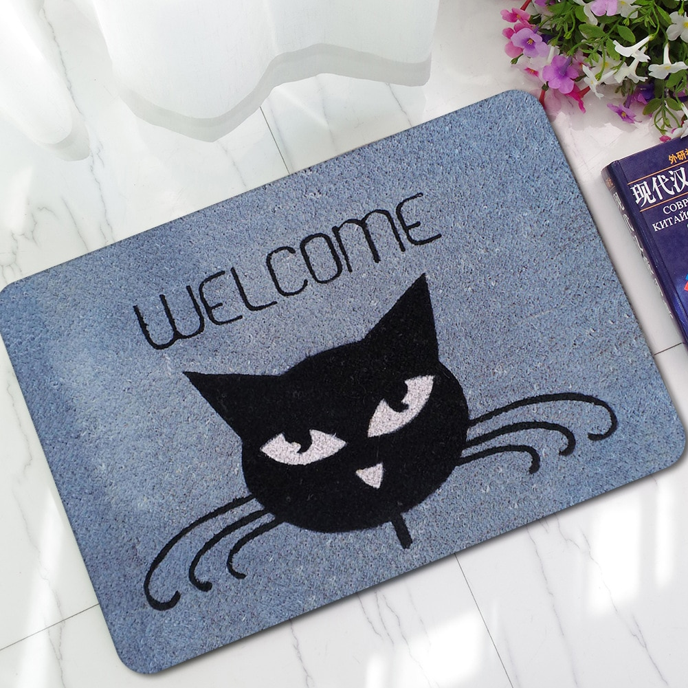 Felpudos De bienvenida para gatos, felpudos De puerta delantera, felpudos De bienvenida para entrada exterior e interior, graciosos Tapis De cocina