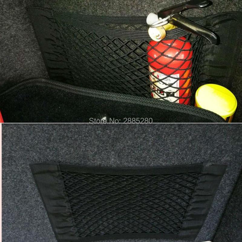 Almacenamiento para maletero de coche bolsa de malla bolsa de red para hyundai i30 nissan qashqai j11 bmw e53 f30 vectra audi a4 b7 HOJA DE nissan qashqai