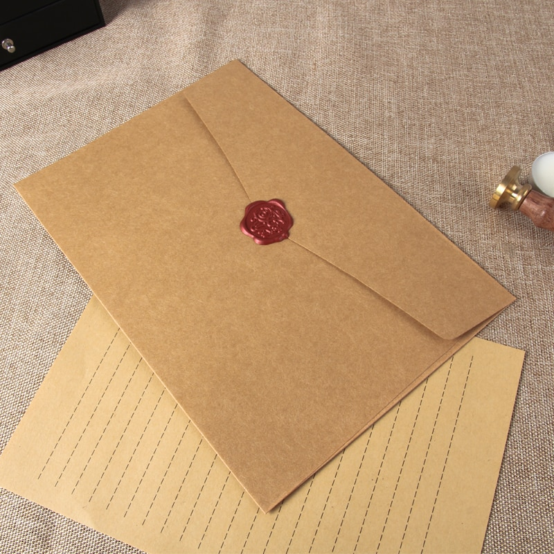 12pcs/set Large Postcard Letter Stationery Paper Kraft Envelope for Wedding Letter Invitation Gift Scrapbooking Large Envelope