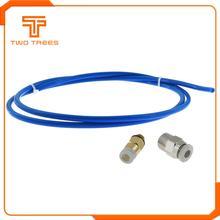 Tubo clonado do capricornus da identificação 2mm od 4mm do filamento da extrusora 1.75mm de hotend rostock bowden do tubo de 1 m ptfe para o ender 3 da creality