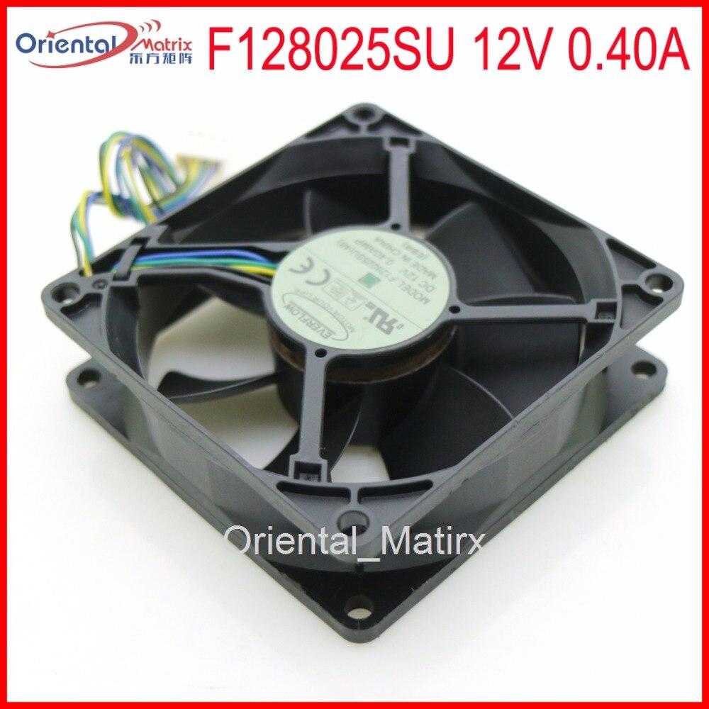 Free Shipping F128025SU 80x80x25mm PWM CPU Fan 12V 0.40A 4Wire 4Pin Computer CPU Cooler Cooling Fan