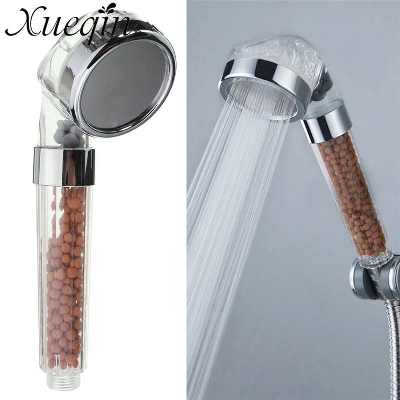 Xueqin baño Booster ABS plástico SPA anión ahorro de agua de mano de alta presión lluvia ducha cabeza boquilla