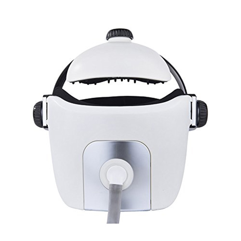 Electric Heating Neck Head Massage Helmet Air Pressure Vibration Therapy Massager Music Muscle Stimulator Health Care enlarge