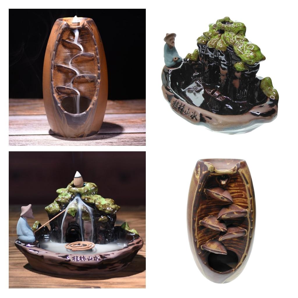 Керамическая подставка для благовоний, конусы, подставка для благовоний, домашний декор, статуэтки, миниатюры, размытый и спокойный