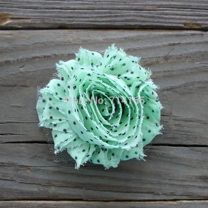 1 yarda DIY puntos shabby Flor de gasa flor Shabby Rose Trim (D008)